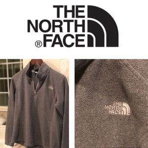 North Face pullover fleece size medium grey